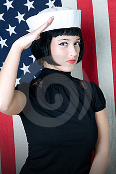 Young Woman In Sailor's Cap Stock Photography - Image: 13800172