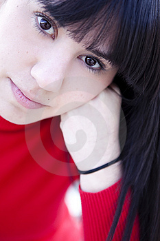 Staring Girl Portrait Royalty Free Stock Photos - Image: 13800208