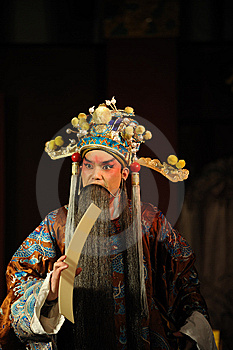 China Opera Man With Long Beard Stock Photo - Image: 13800840