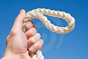 Cord In A Hand Stock Images - Image: 13800954