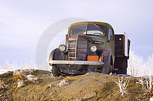 Classic Truck With Wooden Truck Bed Stock Images - Image: 13801084