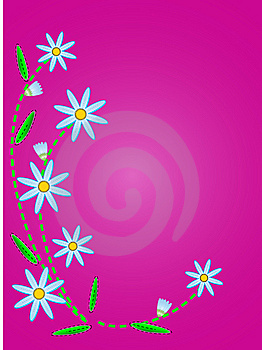 Vector Quilted Blue Cornflowers On Pink Copy Space Stock Photos - Image: 13801203