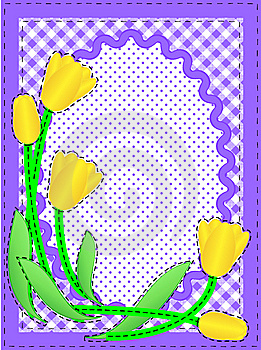 Vector Oval Border With Flowers And Copy Space Royalty Free Stock Images - Image: 13801219