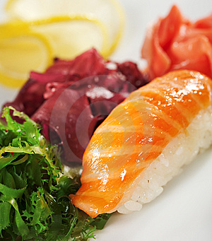 Salmon Sushi Stock Photography - Image: 13801842