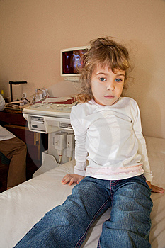 Girl Have Periodic Survey Health In Medical Office Royalty Free Stock Photography - Image: 13803207
