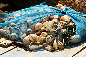 Fishing Net Will Be Dried In A Small Village Royalty Free Stock Images - Image: 13804689