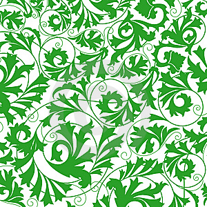 Green Flower Seamless Pattern Stock Photography - Image: 13804962