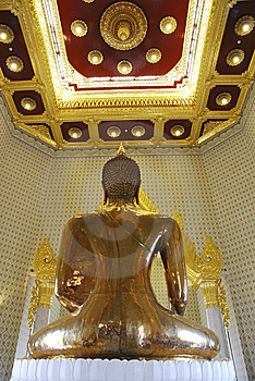 Large Golden Buddha In Temple Of Thailand Stock Image - Image: 13806001