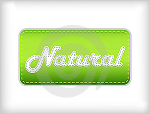 Natural Green Sticker. Royalty Free Stock Images - Image: 13806109