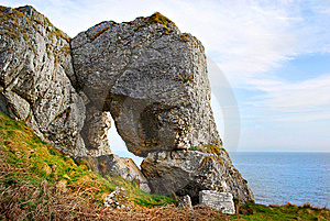 Limestone Window On The World Royalty Free Stock Photography - Image: 13808947
