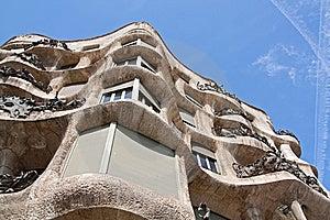 La Pedrera Facade Close Up Stock Images - Image: 13810454