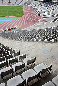 Olympic Stadium Of Montjuic (Barcelona) Stock Photo - Image: 13810550