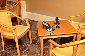 Left Shoes Royalty Free Stock Image - Image: 13810806