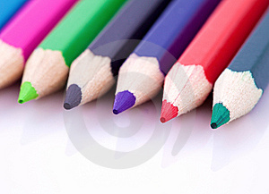 Color Pencils Isolated On White Royalty Free Stock Photo - Image: 13811015