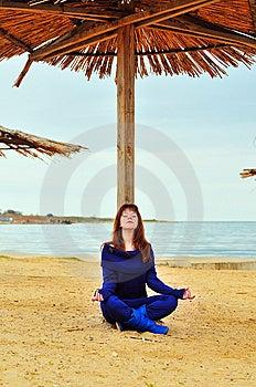 Meditation Near The Sea Royalty Free Stock Photo - Image: 13814045