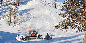 Maintenance Vehicles In Ski Resort Stock Photos - Image: 13815713