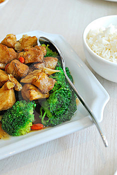 Chinese Style Mushrooms And Cauliflower With Rice Stock Images - Image: 13815744