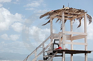 Baywatch Tower Royalty Free Stock Image - Image: 13818876