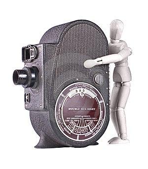 Vintage Roll Film Movie Camera Stock Image - Image: 13818951