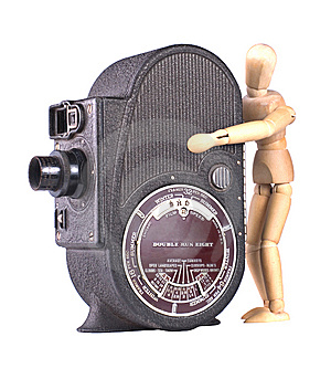 A Vintage Roll Film Movie Camera Stock Images - Image: 13818964