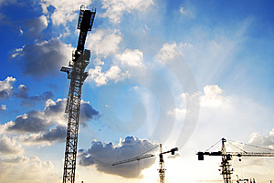 Tower Crane Stock Image - Image: 13820881