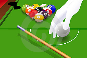 Billiard Game Royalty Free Stock Photography - Image: 13820957