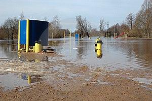 Flood Surrounds Playground Royalty Free Stock Photo - Image: 13821055