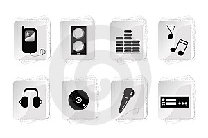 Abstract Music Equipment Icon Royalty Free Stock Images - Image: 13821299