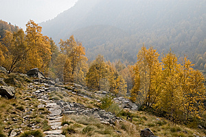 Route In Mountains Stock Image - Image: 13822131