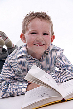 Boy Reading A Book Royalty Free Stock Images - Image: 13823499