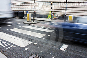Zebra Crossing Or Pedestrian Crossing Royalty Free Stock Photography - Image: 13823517