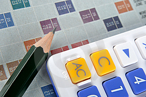 Score Sheet, Calculator And Pencil Stock Photography - Image: 13827242