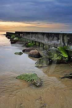 Sunrise On Ocean Stock Photography - Image: 13828672