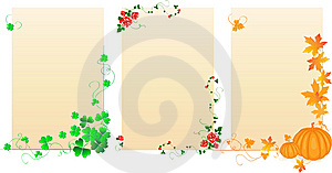 Seasonal Banners Royalty Free Stock Images - Image: 13829679