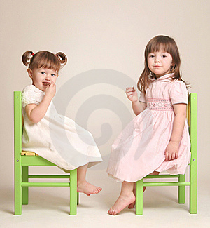 Two Girlfriends Eat Chocolate Royalty Free Stock Photography - Image: 13830867