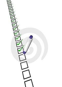 Checksheet Royalty Free Stock Image - Image: 13832866