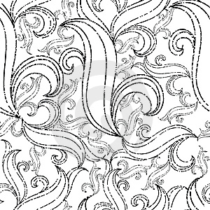 Seamless Grunge Abstract Twirl Pattern Stock Photography - Image: 13835142