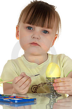 Girl With Egg Royalty Free Stock Photography - Image: 13835327