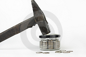 Glass Jar With The Money Stock Photography - Image: 13837372