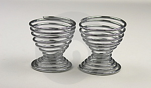 Two Spiral Metal Egg Cups Stock Photography - Image: 13838992