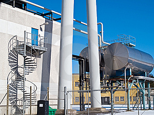 Factory Plant Storage Tanks Royalty Free Stock Photos - Image: 13842118