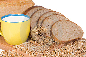 Milk And Bread Stock Photos - Image: 13842133