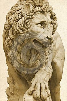 Lion In Florence Stock Images - Image: 13844134