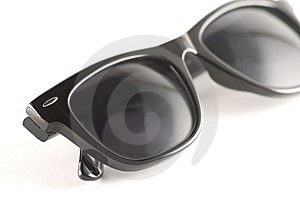Trendy Black Sun Glasses On A White Background Royalty Free Stock Photography - Image: 13845227