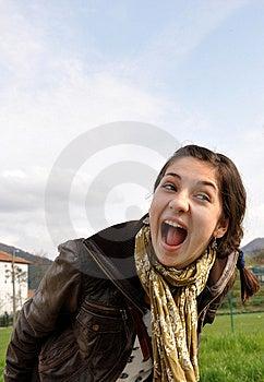 Girl Shouting Stock Image - Image: 13845291