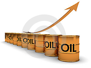 Oil Price Grow Royalty Free Stock Images - Image: 13845439