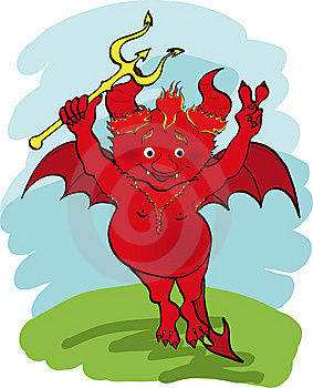 Devil With A Trident. Stock Images - Image: 13845814