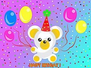 Happy Birthday Teddy Bear Royalty Free Stock Photography - Image: 13845967