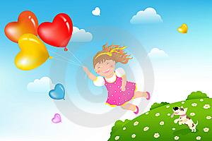 Flying Girl. Vector Stock Photography - Image: 13847192