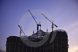 Construction Site Silhouette Royalty Free Stock Photos - Image: 13847448